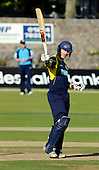 Scottish Saltires V Hampshire Royals, CB40 series, at Mannofield, Aberdeen - Hammer of the Scots - Royals batsman Jimmy Adams signals his 50 to the crowd, on his way to making 74 not out - Picture by Donald MacLeod 21.06.10 - mobile 07702 319 738 - words (if required) from William Dick 077707 83923