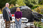 Councillors Michael Cahill & Norma Moriarty at Carhan Road Cahersiveen where waste rubble was dumped from the road improvements two years ago and has now been given the all clear from the EPA to be removed.