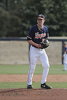 University of Virginia Cavaliers pitcher Brandon Waddell #20 pitching during a game against the University of Kentucky Wildcats at Brooks Field on the campus of the University of North Carolina at Wilmington on February 14, 2014 in Wilmington, North Carolina. Kentucky defeated Virginia by the score of 8-3. (Robert Gurganus/Four Seam Images)
