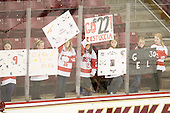 Their sweaters aren't normally welcome at Conte, but their signs were. - The Boston College Eagles defeated the visiting Brown University Bears 5-2 on Sunday, October 24, 2010, at Conte Forum in Chestnut Hill, Massachusetts.