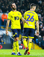 Blackburn Rovers' Derrick Williams reacts after scoring an own goal<br /> <br /> Photographer Alex Dodd/CameraSport<br /> <br /> The EFL Sky Bet Championship - Leeds United v Blackburn Rovers - Wednesday 26th December 2018 - Elland Road - Leeds<br /> <br /> World Copyright &copy; 2018 CameraSport. All rights reserved. 43 Linden Ave. Countesthorpe. Leicester. England. LE8 5PG - Tel: +44 (0) 116 277 4147 - admin@camerasport.com - www.camerasport.com