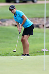 SIOUX FALLS, SD - AUGUST 31: Kelsie Passolt rolls her birdie putt on the 8th green, her 17th hole, during the first round of the Great Life Challenge, Symetra Tour stop at Willow Run Thursday afternoon. (Photo by Dave Eggen/Inertia)