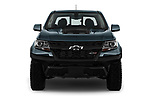 Car photography straight front view of a 2017 Chevrolet Colorado ZR2 Crew 4 Door Pick Up