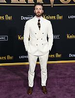 "14 November 2019 - Westwood, California - Chris Evans. ""Knives Out"" Los Angeles Premiere held at Regency Village Theater. Photo Credit: Birdie Thompson/AdMedia"