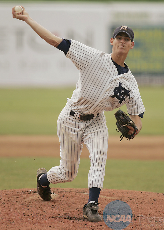 30 MAY 2006: Marietta College pitcher Mike Eisenberg releases a pitch against a Wheaton College batter in  third inning of the NCAA Division III Men's National Baseball Championship held at Fox Cities Stadium in Grand Chute, WI.  Eisenberg went eight innings giving up two earned runs on six hits and struck out twelve batters to win the game, and co MVP honors in the tournament.    Allen Fredrickson/NCAA Photos