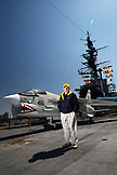 USA, California, San Diego, Navy pilot Dave Cowles flew on the Midway aircraft carrier in 1963