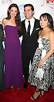 Katie Holmes and her lawyer Jonathan W. Wolfe with wife Renee attending the Broadway Dreams Foundation's 'Champagne & Caroling Gala' at Celsius at Bryant Park, New York on December 10, 2012