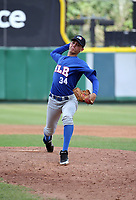 Angel Rivero participates in the MLB International Showcase at Estadio Quisqeya on February 22-23, 2017 in Santo Domingo, Dominican Republic.