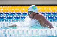 Santa Clara, California - Sunday June 5, 2016:  Thiago Pereira races in the Men's 200 LC Meter IM at the Arena Pro Swim Series at Santa Clara morning session.