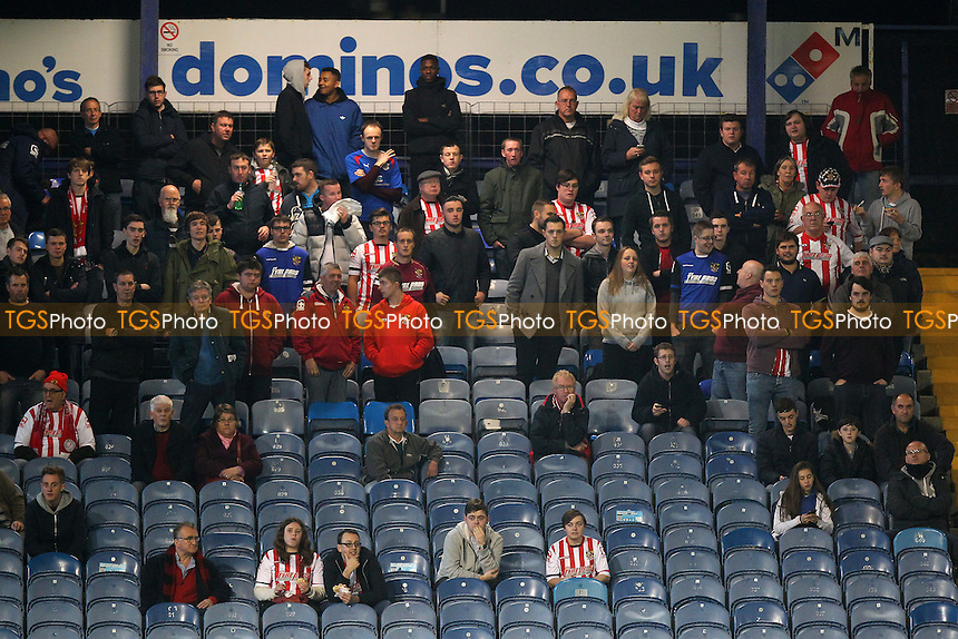 The travelling fans look on during Portsmouth vs Stevenage, Sky Bet League 2 Football at Fratton Park, Portsmouth, England on 20/10/2015