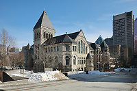 Redpath Hall, built in 1893 in Neo Romanesque style by Sir Andrew Taylor, and gifted to McGill University in 1893 by the sugar baron Peter Redpath, in Montreal, Quebec, Canada. The building is currently used as the university library. Picture by Manuel Cohen