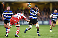Taulupe Faletau of Bath Rugby in possession. Aviva Premiership match, between Bath Rugby and Gloucester Rugby on October 29, 2017 at the Recreation Ground in Bath, England. Photo by: Patrick Khachfe / Onside Images