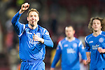 Hearts v St Johnstone....11.01.11  Scottish Cup.Steven Anderson celebrates at full time.Picture by Graeme Hart..Copyright Perthshire Picture Agency.Tel: 01738 623350  Mobile: 07990 594431