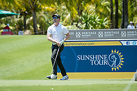 Estiaan CONRADIE (RSA) during the 3rd round of the AfrAsia Bank Mauritius Open, Four Seasons Golf Club Mauritius at Anahita, Beau Champ, Mauritius. 01/12/2018<br /> Picture: Golffile | Mark Sampson<br /> <br /> <br /> All photo usage must carry mandatory copyright credit (&copy; Golffile | Mark Sampson)