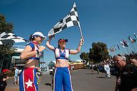 March 14, 2014: Crowd entertainment at the 2014 Australian Formula One Grand Prix at Albert Park, Melbourne, Australia. Photo Sydney Low.