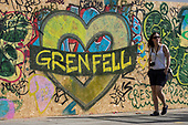 London, UK. 28 August 2017. Notting Hill Carnival celebrations and parade on Bank Holiday Monday. The festival attacts over 1 million visitors and in 2017  it remembers the victims of the Grenfell Tower fire.