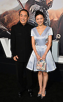 Yimou Zhang &amp; Chen Ting at the premiere for &quot;The Great Wall&quot; at the TCL Chinese Theatre, Hollywood, Los Angeles, USA 15 February  2017<br /> Picture: Paul Smith/Featureflash/SilverHub 0208 004 5359 sales@silverhubmedia.com