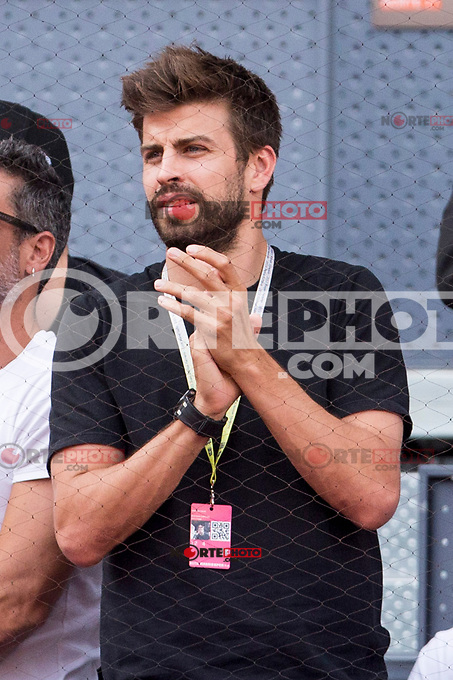 Gerard Pique during  Mutua Madrid Open Tennis 2017 at Caja Magica in Madrid, May 08, 2017. Spain. /NortePhoto.com
