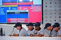 Team USA sumits its Match 4 selections during round 1 player selection for the 2017 President's Cup, Liberty National Golf Club, Jersey City, New Jersey, USA. 9/27/2017.<br /> Picture: Golffile | Ken Murray<br /> <br /> <br /> All photo usage must carry mandatory copyright credit (&copy; Golffile | Ken Murray)