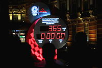 23rd July 2020, Tokyo, Japan; A  countdown clock displaying 365 days to go until the start of the postponed Tokyo 2020 Olympic and Paralympic Games in Tokyo, Japan.