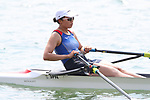 Haruna Sakakibara (JPN), <br /> AUGUST 19, 2018 - Rowing : <br /> Women's Single Sculls Heat <br /> at Jakabaring Sport Center Lake <br /> during the 2018 Jakarta Palembang Asian Games <br /> in Palembang, Indonesia. <br /> (Photo by Yohei Osada/AFLO SPORT)