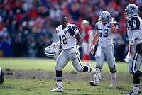 SAN FRANCISCO, CA -  Emmitt Smith of the Dallas Cowboys in action against the San Francisco 49ers at Candlestick Park in San Francisco, California in 1995.  Photo by Brad Mangin