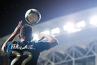 Leo Fernandes (22) of the Philadelphia Union on a throw in. The Philadelphia Union defeated the Chicago Fire 1-0 during a Major League Soccer (MLS) match at PPL Park in Chester, PA, on May 18, 2013.