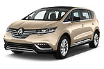 2015 Renault Espace Intens 5 Door Minivan Angular Front stock photos of front three quarter view