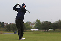 Mark Aspland (AM) on the 10th tee during the Pro-Am of the Betfred British Masters 2019 at Hillside Golf Club, Southport, Lancashire, England. 08/05/19<br /> <br /> Picture: Thos Caffrey / Golffile<br /> <br /> All photos usage must carry mandatory copyright credit (© Golffile | Thos Caffrey)