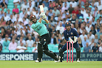 Ben Foakes in batting action for Surrey as Adam Wheater looks on from behind the stumps during Surrey vs Essex Eagles, Vitality Blast T20 Cricket at the Kia Oval on 12th July 2018