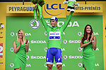 Marcel Kittel (GER) Quick-Step Floors retains the Green Jersey at the end of Stage 12 of the 104th edition of the Tour de France 2017, running 214.5km from Pau to Peyragudes, France. 13th July 2017.<br /> Picture: ASO/Pauline Ballet | Cyclefile<br /> <br /> <br /> All photos usage must carry mandatory copyright credit (&copy; Cyclefile | ASO/Pauline Ballet)