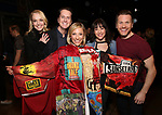"Angie Schworer, Matt Wall, Erica Mansfield, Cameron Adams, Marty Lawson during the Broadway Opening Night Legacy Robe Ceremony honoring Erica Mansfield for  ""Kiss Me, Kate""  at Studio 54 on March 14, 2019 in New York City."