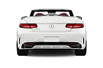 Straight rear view of 2017 Mercedes Benz S-Class S550 2 Door Convertible Rear View  stock images