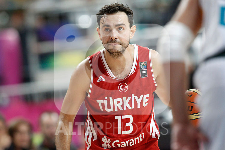 Turkey's Ender Arslan during 2014 FIBA Basketball World Cup Quarter-Finals match.September 9,2014.(ALTERPHOTOS/Acero)