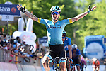 Pello Bilbao (ESP) Astana Pro Team wins Stage 20 of the 2019 Giro d'Italia, running 194km from Feltre to Croce d'Aune-Monte Avena, Italy. 1st June 2019<br /> Picture: Fabio Ferrari/LaPresse | Cyclefile<br /> <br /> All photos usage must carry mandatory copyright credit (© Cyclefile | Fabio Ferrari/LaPresse)