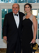 Former Mayor Rudolph Giuliani (Republican of New York, New York) and Dr. Maria Ryan arrive for the State Dinner hosted by United States President Donald J. Trump and First lady Melania Trump in honor of Prime Minister Scott Morrison of Australia and his wife, Jenny Morrison, at the White House in Washington, DC on Friday, September 20, 2019.<br /> Credit: Ron Sachs / Pool via CNP