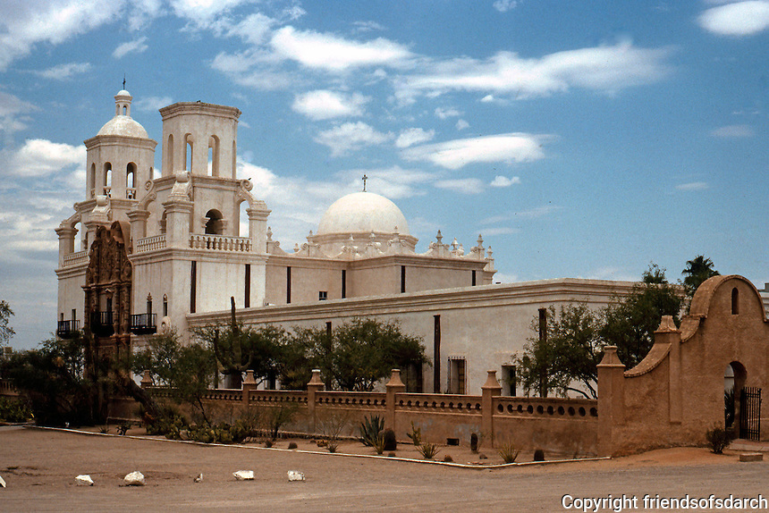 AZ: Tucson--San Xavier Del Bac Church and Walls, 1783. Photo '96.