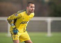 Alfie Whiteman of Tottenham Hotspur during the U23 - Premier League 2 match between Tottenham Hotspur U23 and Everton at Tottenham Training Ground, Hotspur Way, England on 15 January 2018. Photo by Vince  Mignott / PRiME Media Images.