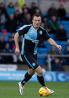 Garry Thompson of Wycombe Wanderers in action during the Sky Bet League 2 match between Wycombe Wanderers and Portsmouth at Adams Park, High Wycombe, England on 28 November 2015. Photo by Andy Rowland.