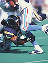 San Diego Charger, Junior Seau (55)  during a game against the Tennessee Oilers on September 13, 1998 at Vanderbilt Stadium in Nashville, Tennessee.  Junior Seau  player for 20  years with 3 different teams, was a 12-time Pro Bowler and was inducted to the Pro Football Hall of Fame in 2015.