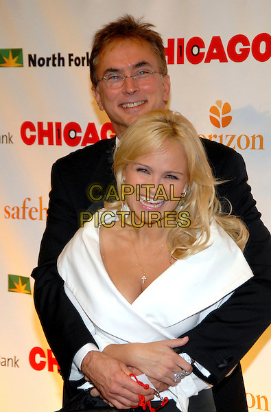"ROB FISHER & KRISTIN CHENOWETH.10th Anniversary of ""Chicago"" on Broadway at the Ambassador Theatre, New York, NY, USA..November14th, 2006.Ref: ADM/PH.half length white top arms around waist.www.capitalpictures.com.sales@capitalpictures.com.©AdMedia/Capital Pictures. *** Local Caption ***"