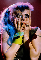 FILE PHOTO  - Nina Hagen<br /> in concert at the Spectrum, January 30, 1984<br /> <br /> <br /> Photo : Agence Quebec Presse