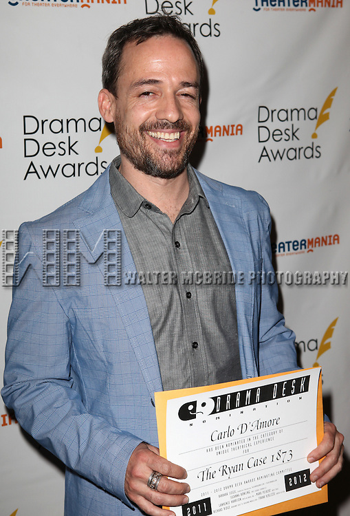 Carlo D Amore.attending the 57th Annual Drama Desk Nominees Reception at Oceana Restaurant in New York City on 5/8/2012. © Walter McBride/WM Photography .