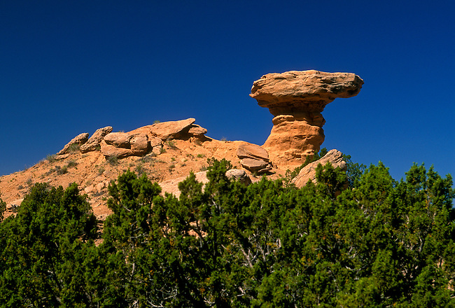 Camel Rock, Tesuque, Santa Fe County, New Mexico, United States, North America
