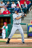 Ben Paulsen (11) of the Tulsa Drillers at bat during a game against the Springfield Cardinals at Hammons Field on July 20, 2011 in Springfield, Missouri. Springfield defeated Tulsa 12-1. (David Welker / Four Seam Images)