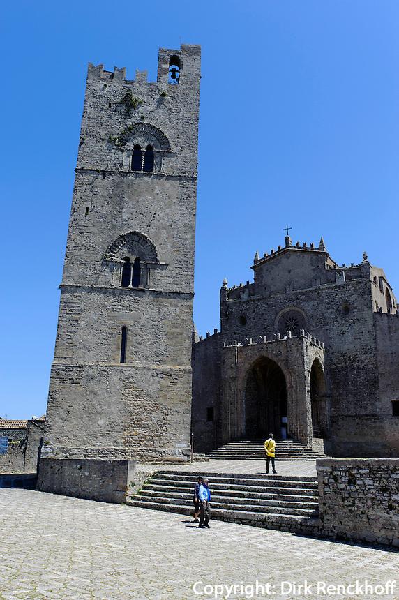 Duomo = Chiesa Regia Matrice in Erice, Sizilien, Italien