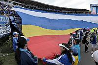 BOGOTÁ -COLOMBIA, 03-05-2014. Aspecto del encuentro de vuelta entre Millonarios y La Equidad por los cuartos de final de la Liga Postobón I 2014 jugado en el estadio Nemesio Camacho El Campín de la ciudad de Bogotá./ Aspect of the second leg match between Millonarios and La Equidad for quarter finals of the Postobon League I 2014 played at Nemesio Camacho El Campin stadium in Bogotá city. Photo: VizzorImage/ Gabriel Aponte / Staff