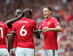 Manchester United's Paul Pogba celebrates scoring his sides fourth goal with Nemanja Matic during during the premier league match at Old Trafford Stadium, Manchester. Picture date 13th August 2017. Picture credit should read: David Klein/Sportimage