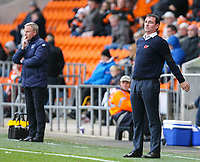Blackpool manager Gary Bowyer shouts instructions to his team from the technical area<br /> <br /> Photographer Alex Dodd/CameraSport<br /> <br /> The EFL Sky Bet League One - Blackpool v Portsmouth - Saturday 11th November 2017 - Bloomfield Road - Blackpool<br /> <br /> World Copyright &copy; 2017 CameraSport. All rights reserved. 43 Linden Ave. Countesthorpe. Leicester. England. LE8 5PG - Tel: +44 (0) 116 277 4147 - admin@camerasport.com - www.camerasport.com
