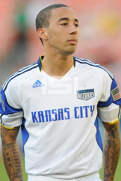 Kansas City Wizards midfielder Ryan Smith (11).  DC United defeated The Kansas City Wizards  2-0 at RFK Stadium, Wednesday  May 5, 2010.